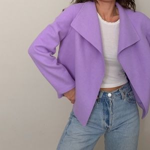 talbots double faced wool sweater jacket